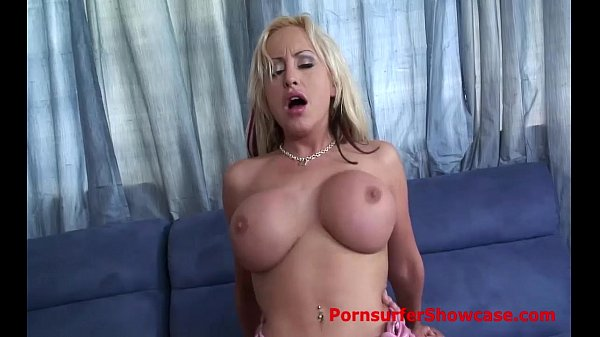 striking blonde with advantaged teats has ana big tits
