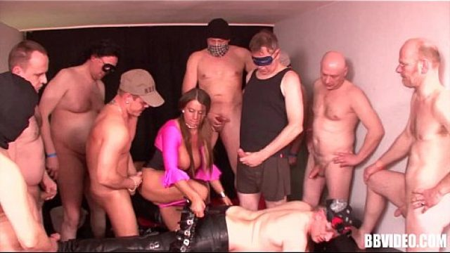 Gangbang Sex udders german nympho poking hammers in orgy