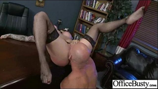 Office Sex large breasts office Employee babe perform