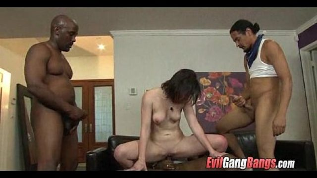 Gangbang Sex big black cock gangbang so enjoy very love